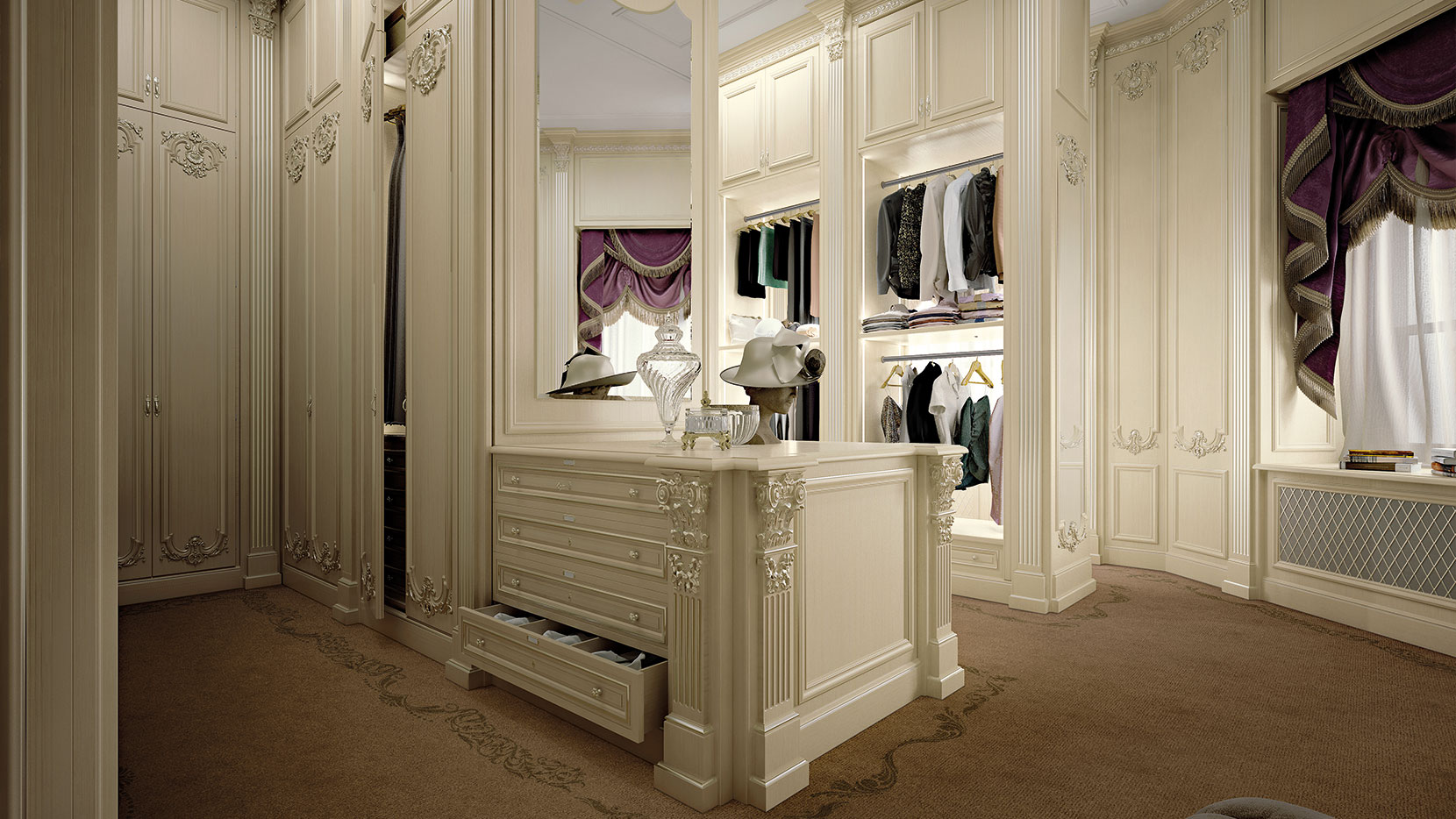 Bespoke Walk In Closet With Automation Systems Queen