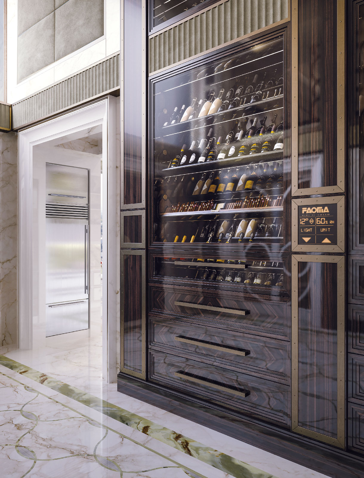 Faoma Metropolitan Wine Fridge