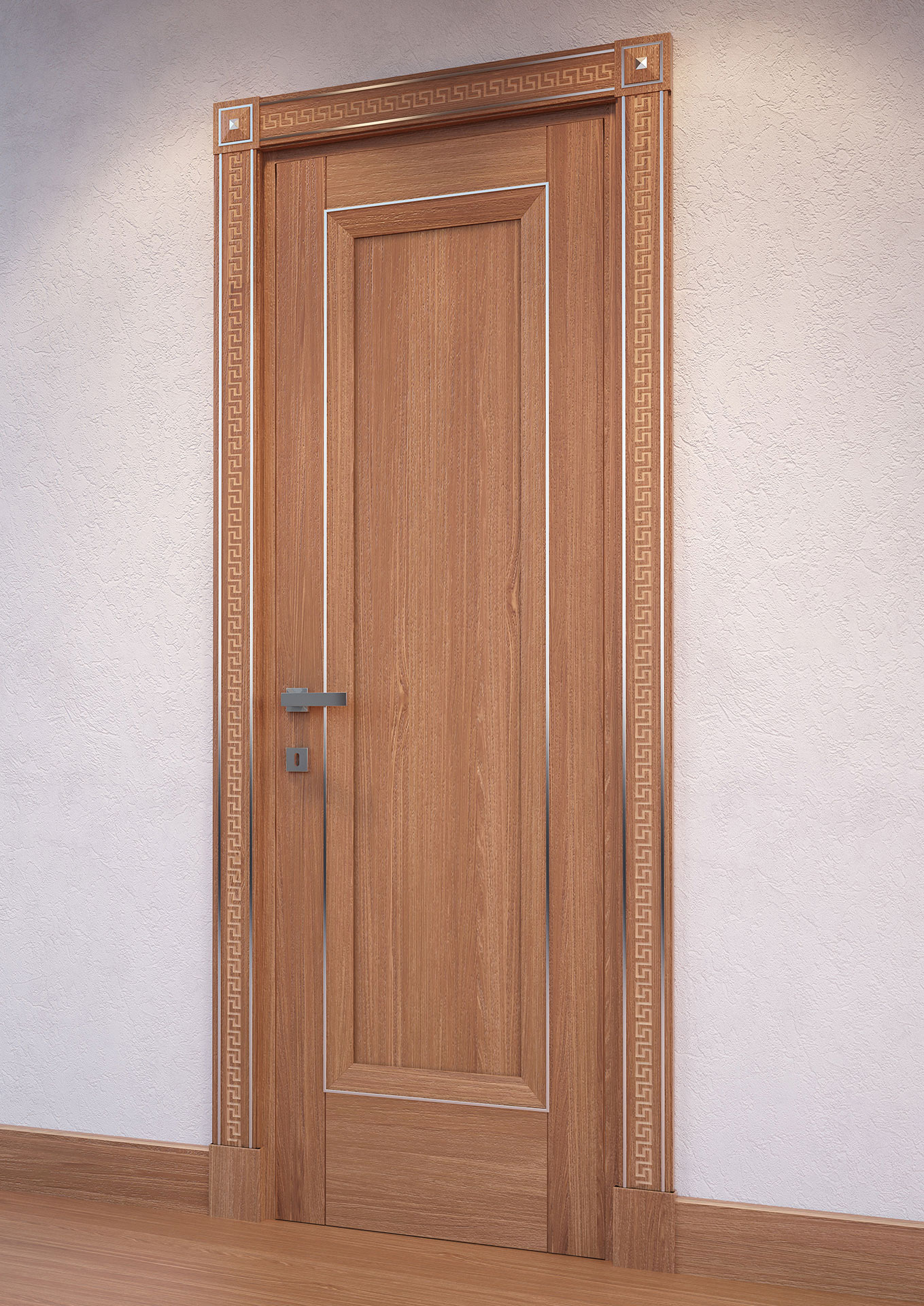 Faoma smooth door in light-toned wood