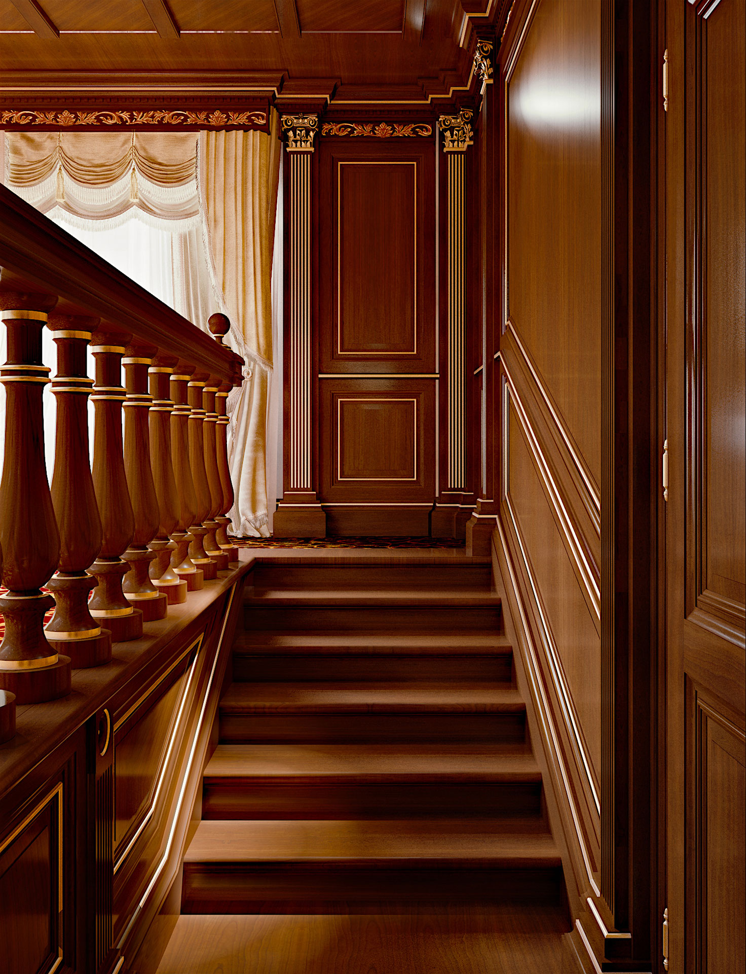 Faoma wooden staircase
