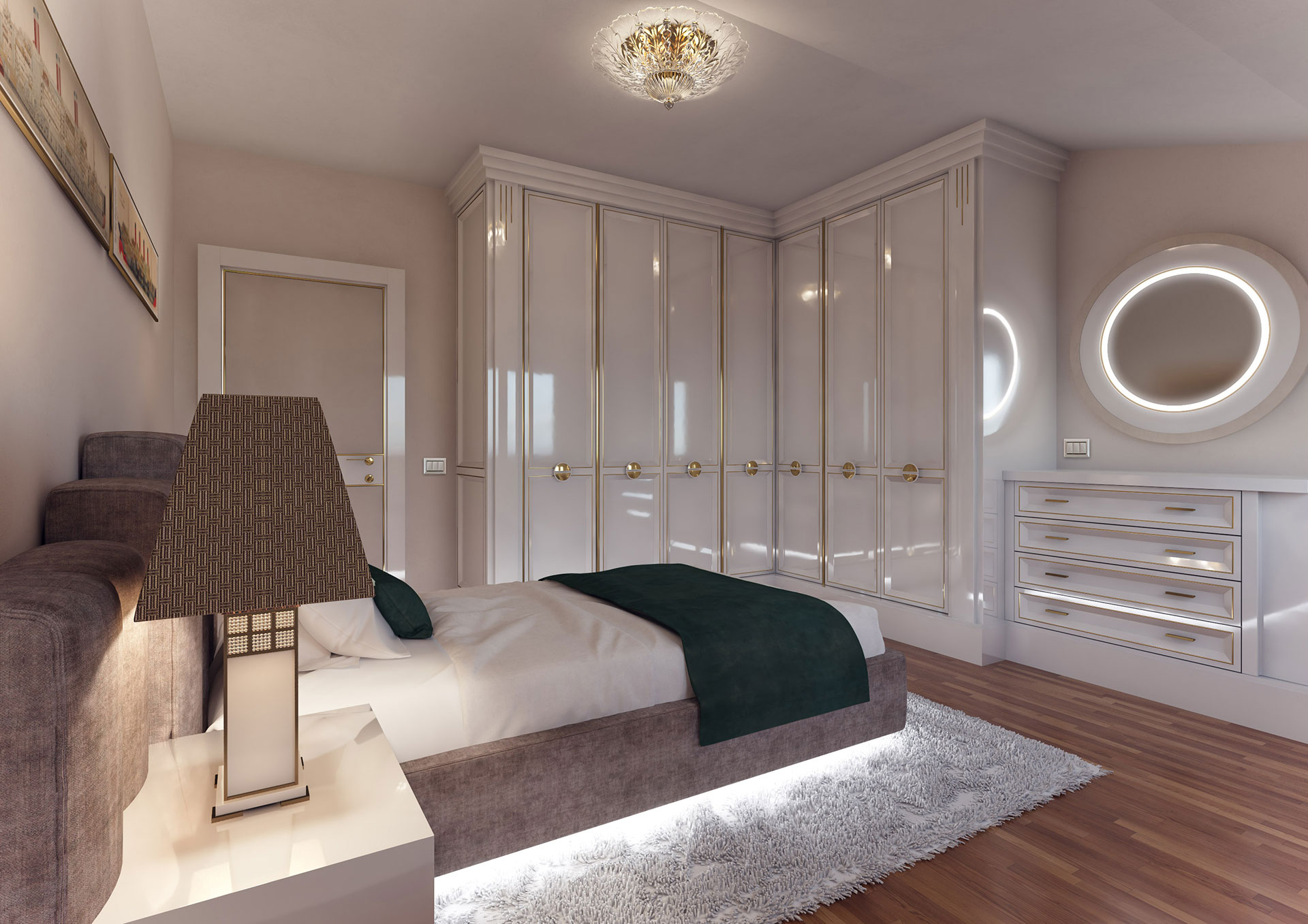 Faoma small modern white bedroom