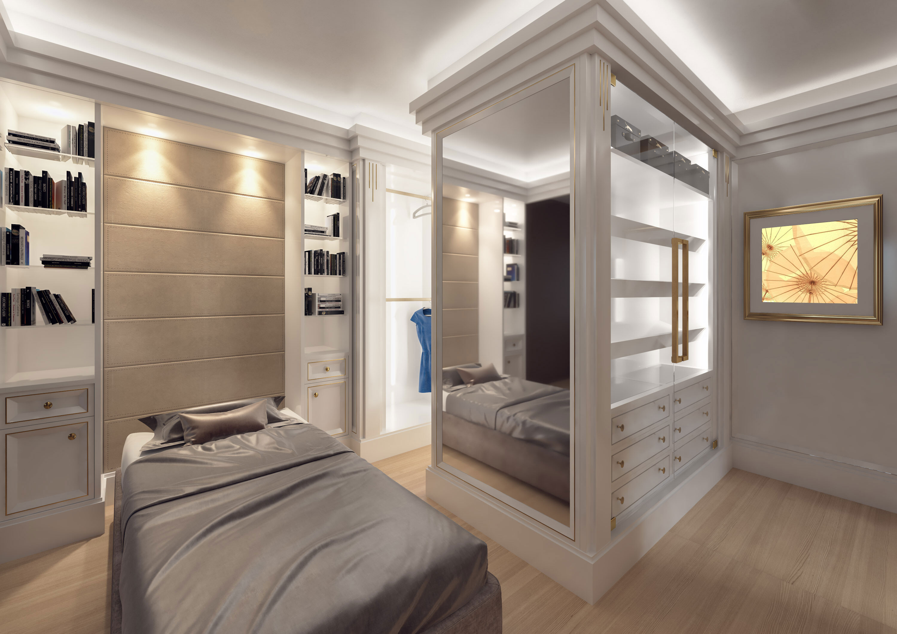 Faoma contemporary walk-in wardrobe