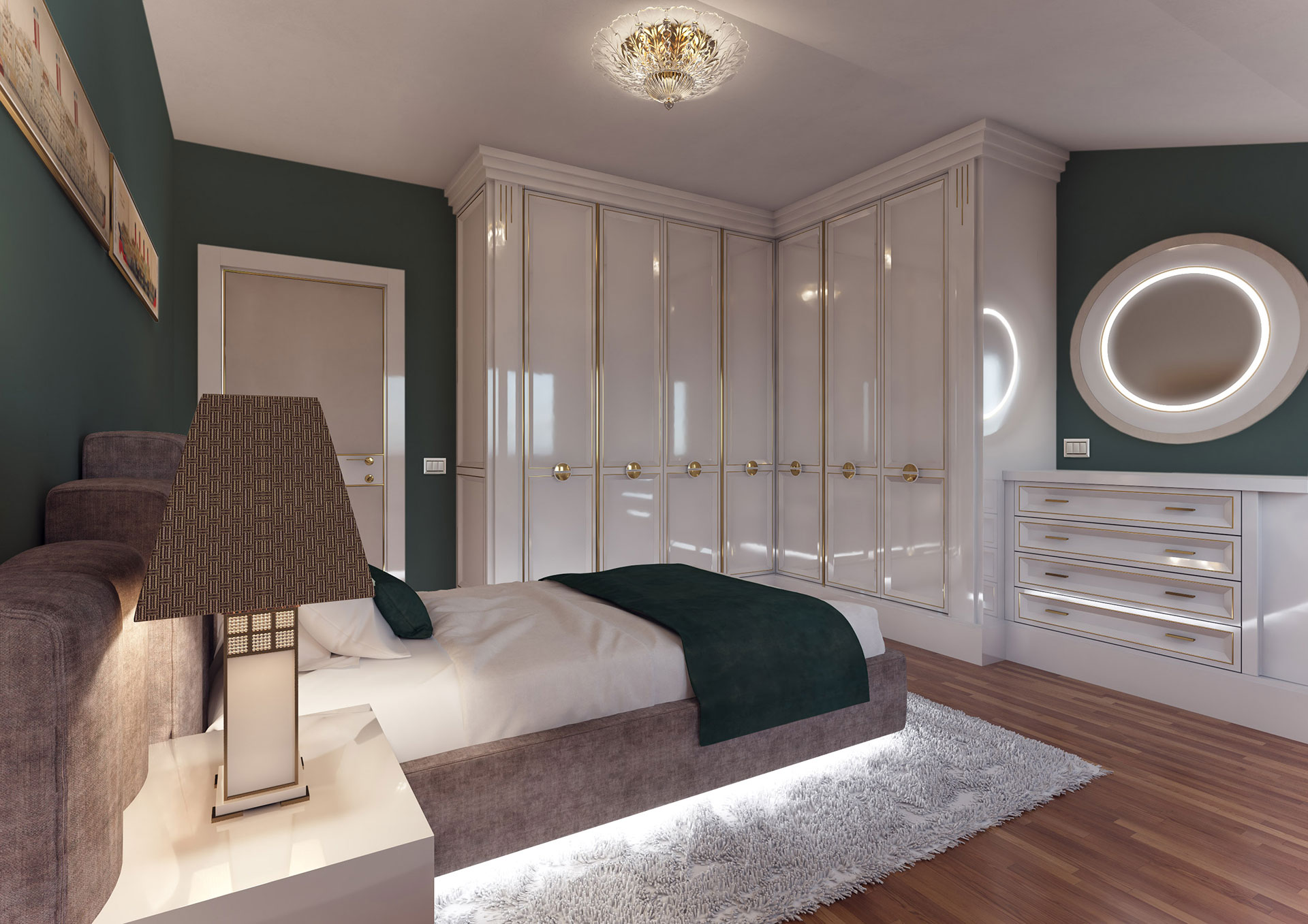 Faoma design bedroom with single bed