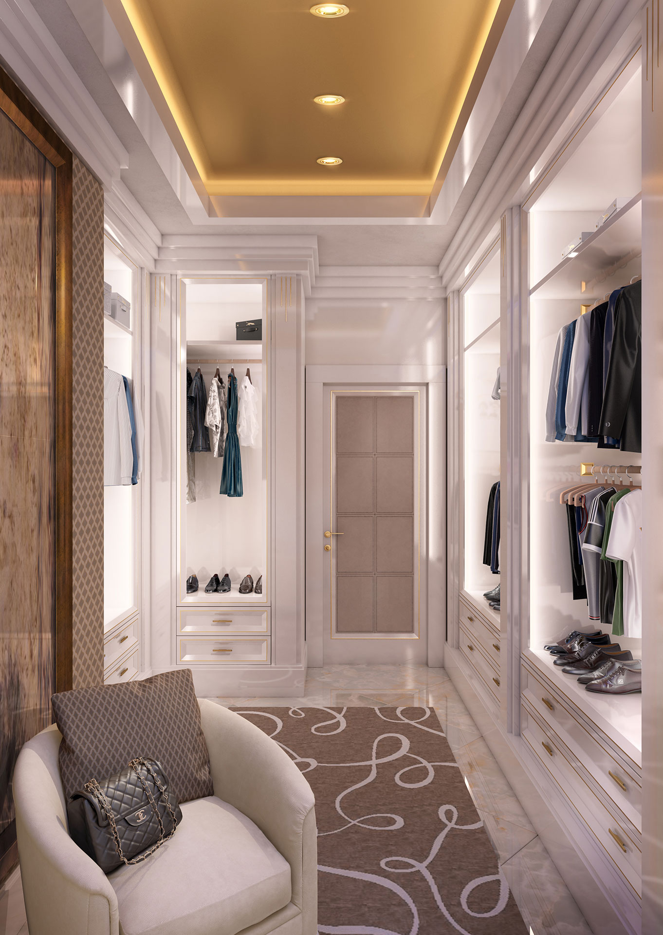 Faoma bespoke contemporary dressing room
