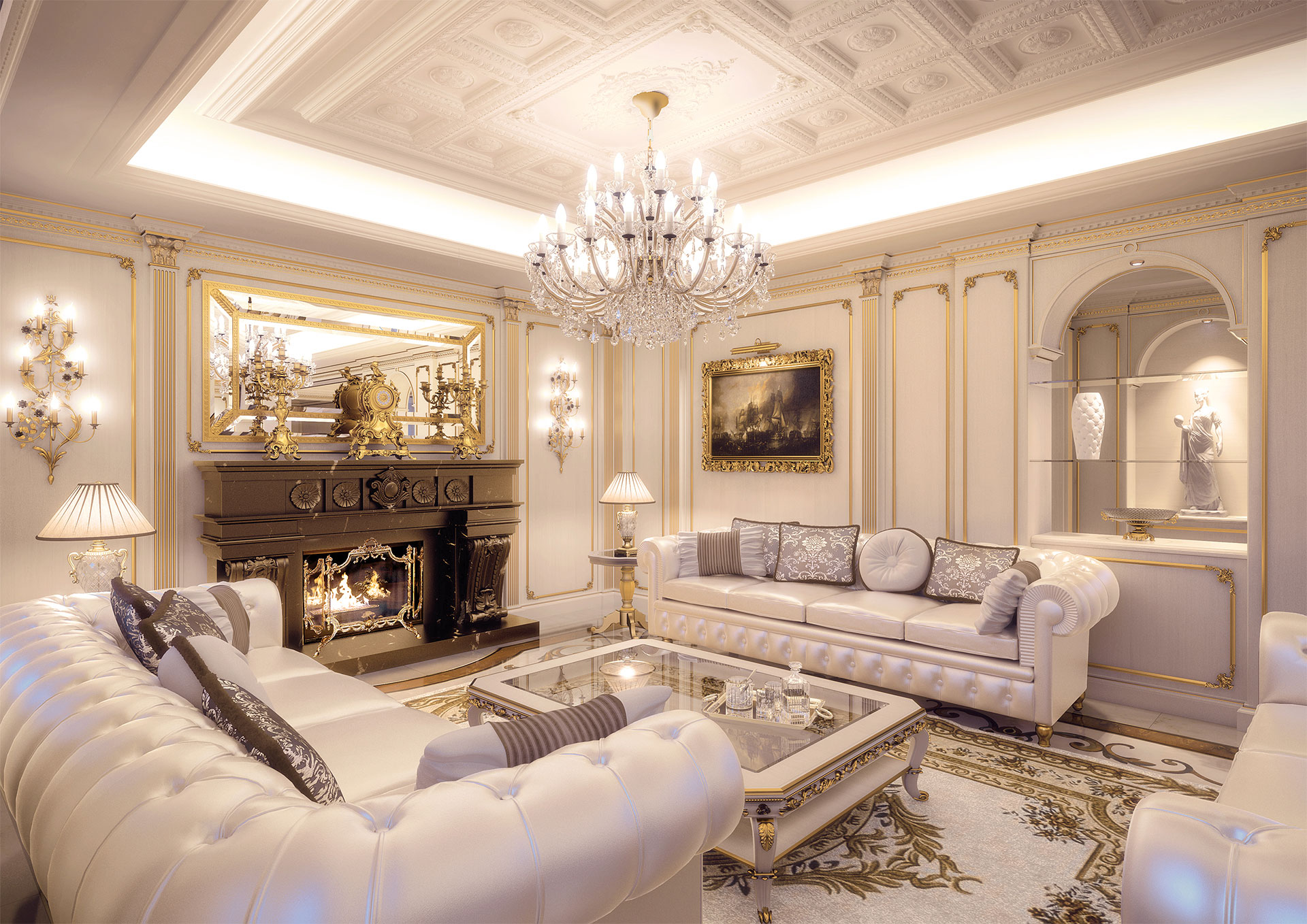 Luxury living room made to measure Prince