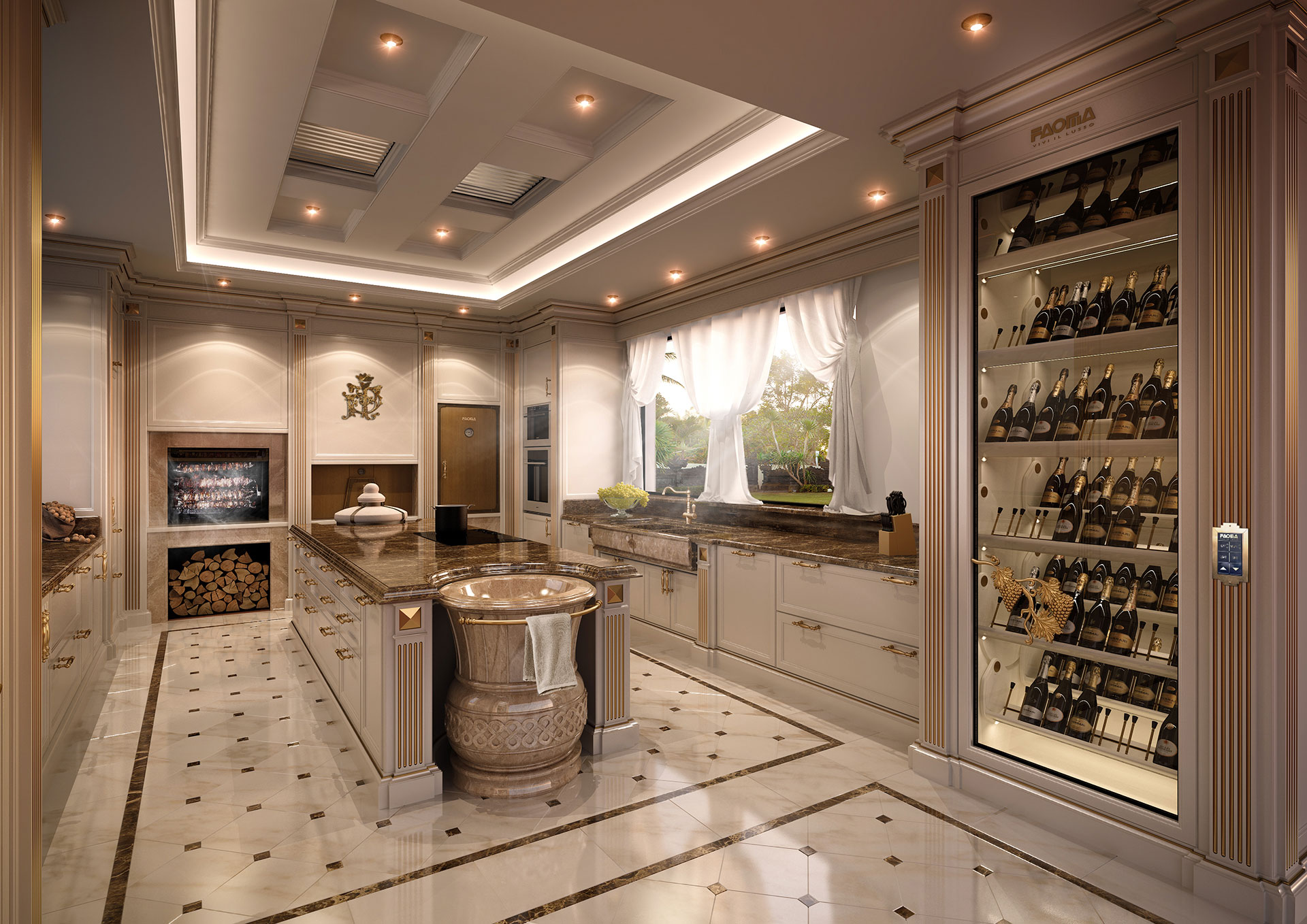Faoma Luxury Ivory Kitchen