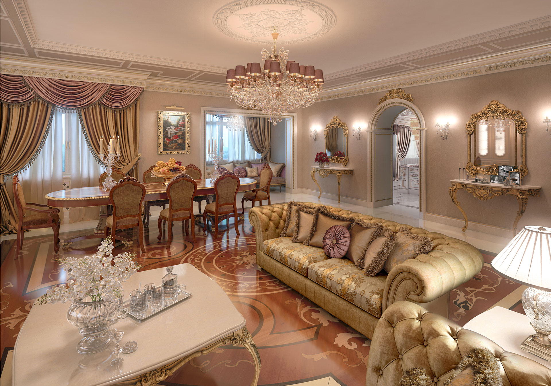 Faoma bespoke living room in classic style