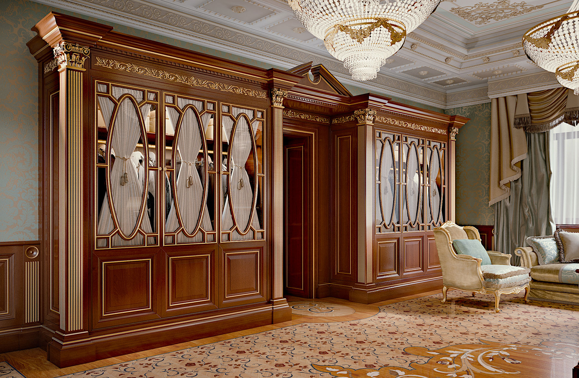 Faoma bedroom with luxury bespoke wardrobes