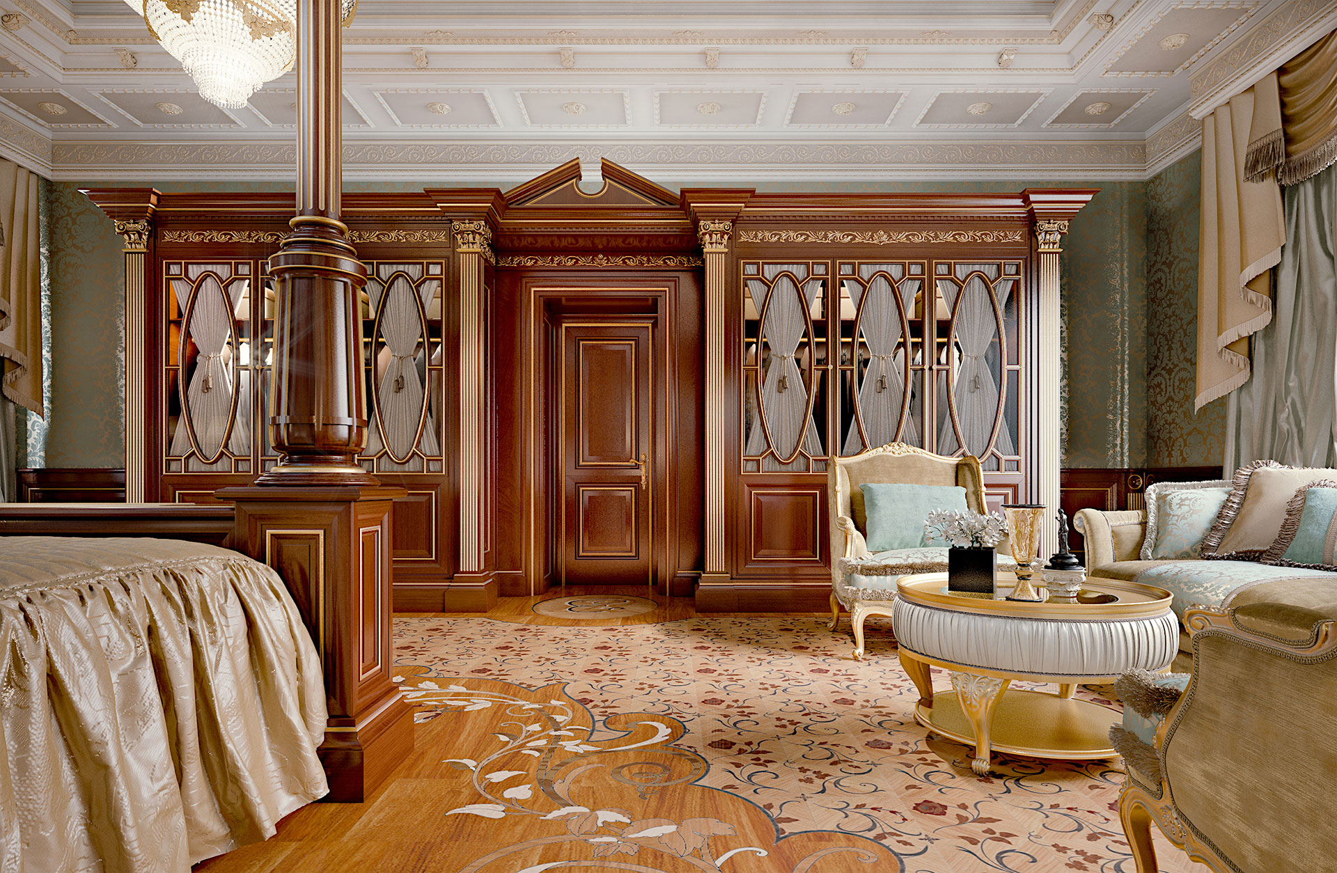 Faoma bespoke wardrobes in classic bedroom