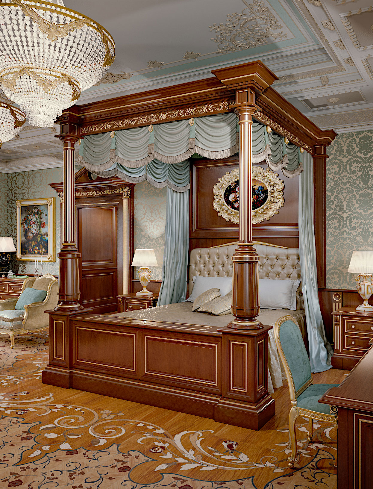 Faoma bespoke four-poster bed