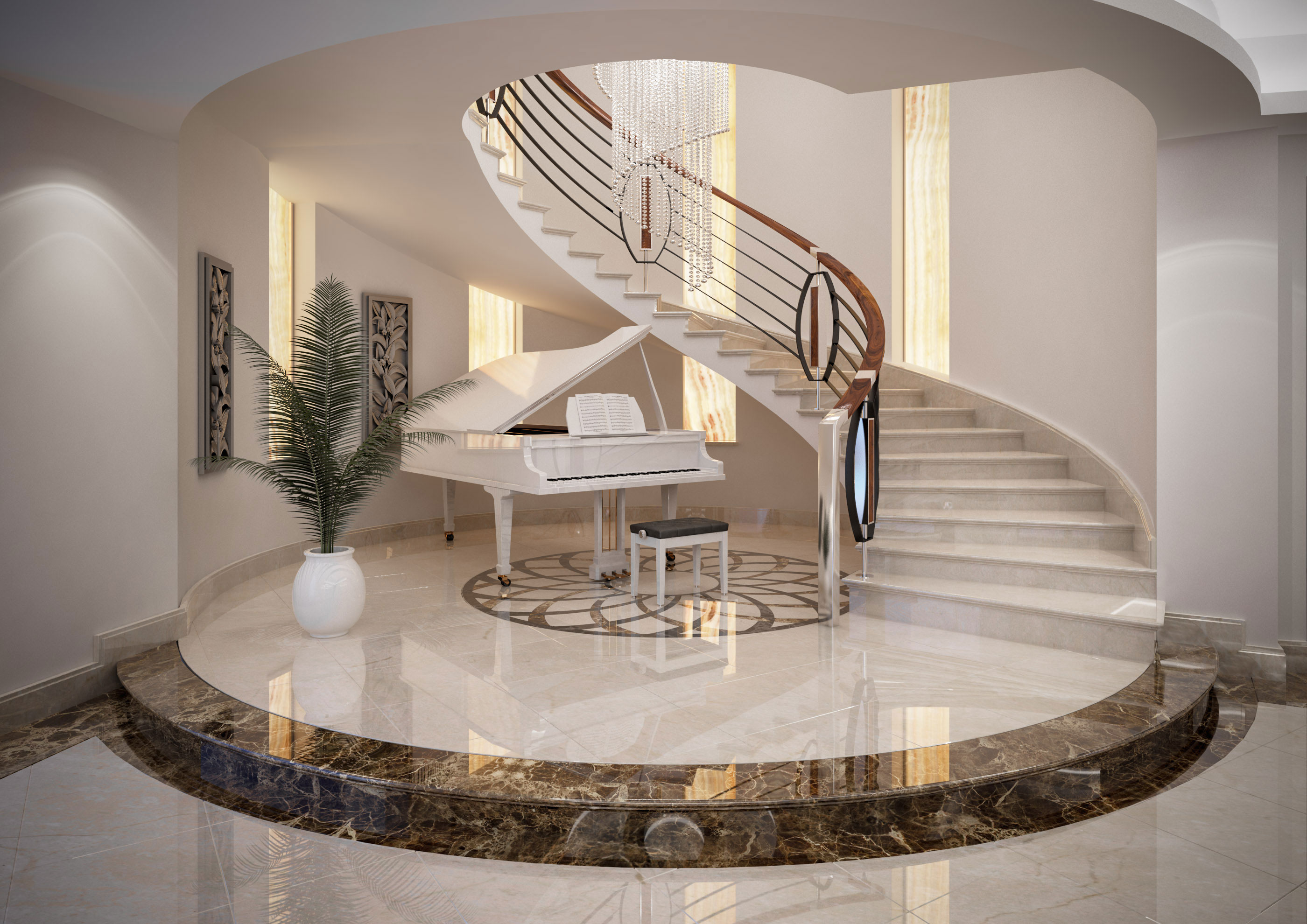 Faoma custom marble staircase