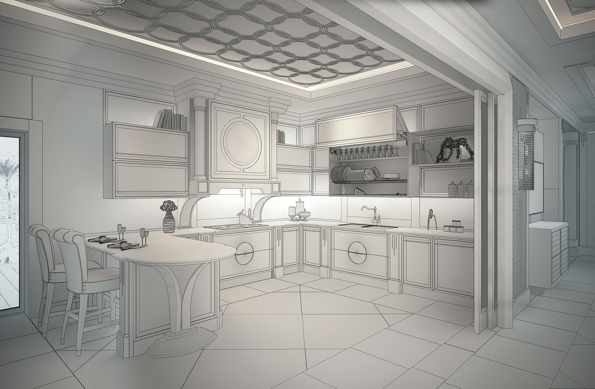 Faoma Globle design of the kitchen